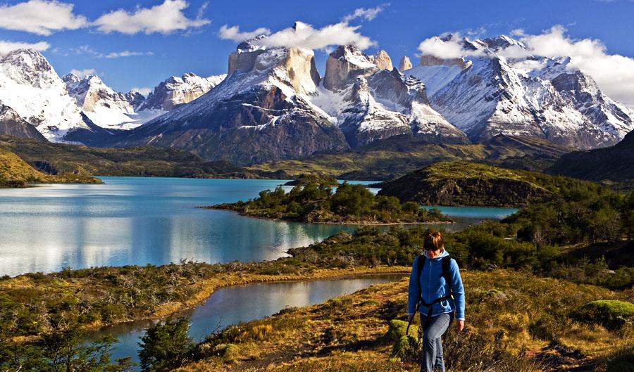 Hiking in Patagonia.